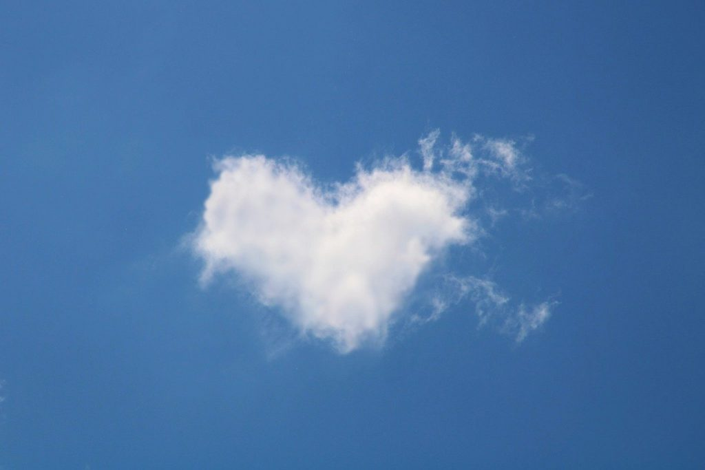 cloud, heart, love